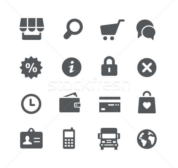 Online Store Icons -- Utility Series Stock photo © Palsur