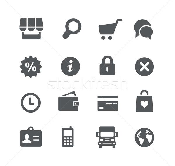 Online bolt ikonok hasznosság vektor digitális nyomtatott Stock fotó © Palsur