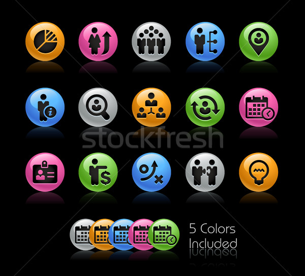 Stockfoto: Business · rendement · iconen · vector · bestand · kleur