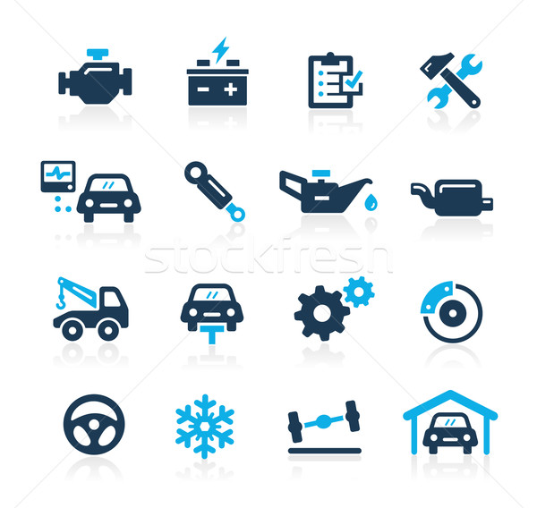 Auto dienst iconen azuur vector web Stockfoto © Palsur