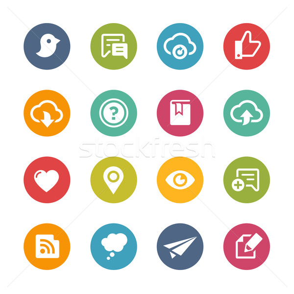 Web and Mobile Icons 8 -- Fresh Colors Series Stock photo © Palsur
