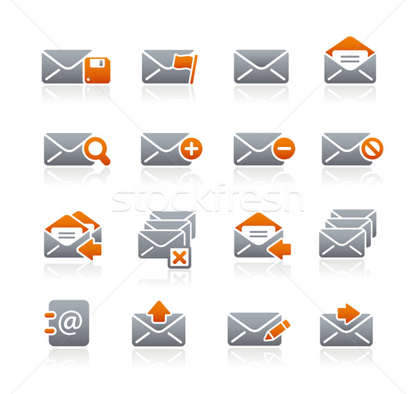 E-mail Icons // Graphite Series Stock photo © Palsur