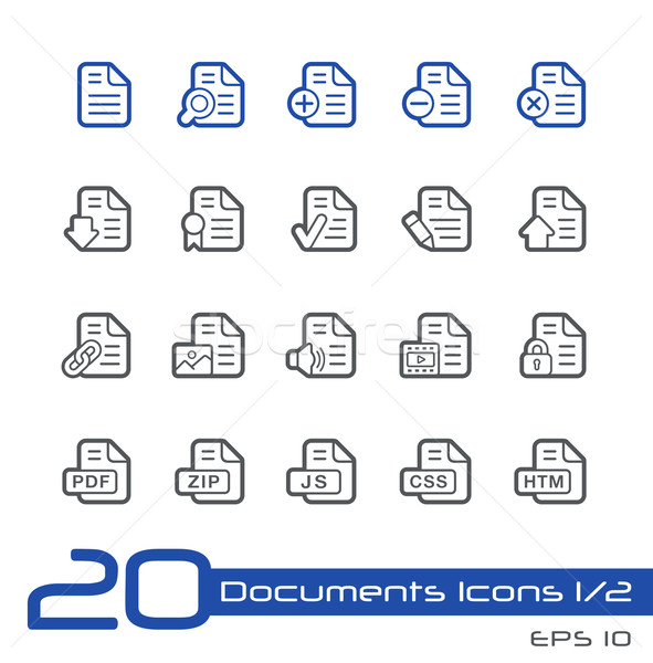 Documents Icons - 1 of 2 -- Line Series Stock photo © Palsur