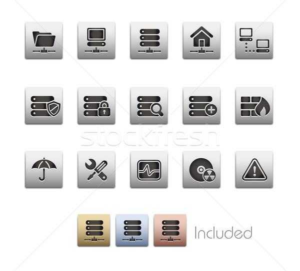 Stock fotó: Hálózat · szerver · fémes · eps · akta · szín