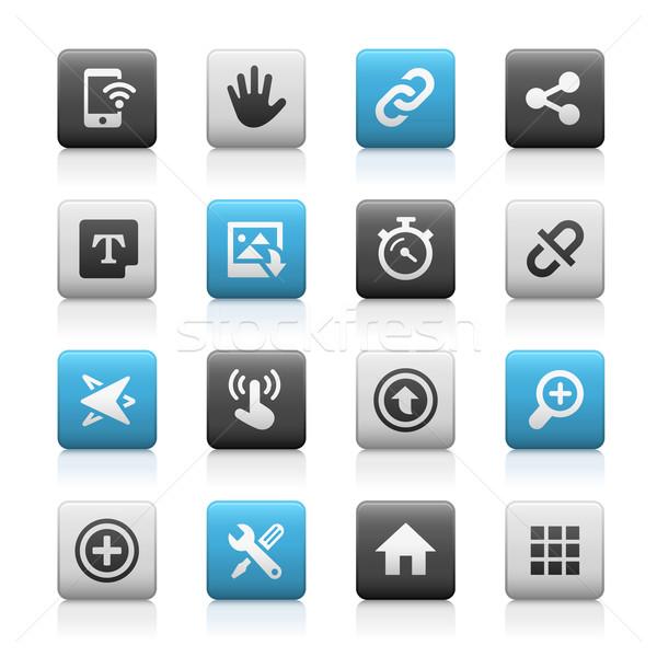 Web mobiele iconen 10 mat vector Stockfoto © Palsur