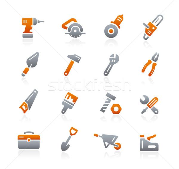Tools iconen grafiet vector digitale print Stockfoto © Palsur