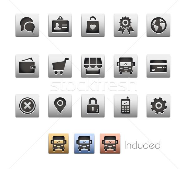 Online bolt ikonok vektor akta eps szín Stock fotó © Palsur
