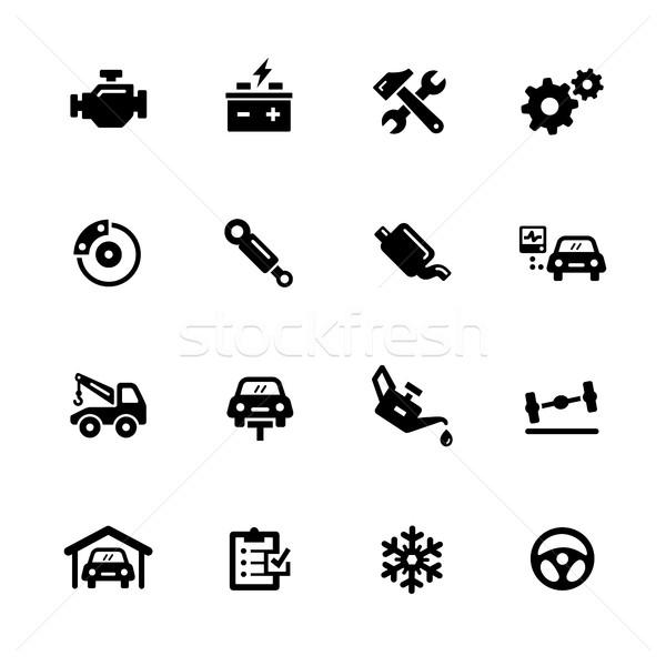 Car Service Icons // Black Series Stock photo © Palsur