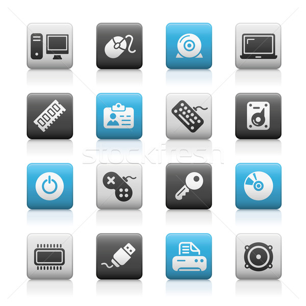 Computer & Devices Icons // Matte Series Stock photo © Palsur