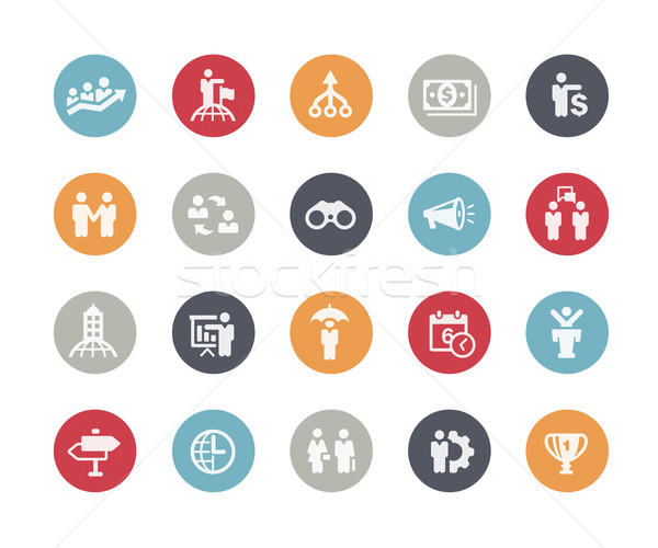 Business Concepts Icon Set // Classics Series Stock photo © Palsur