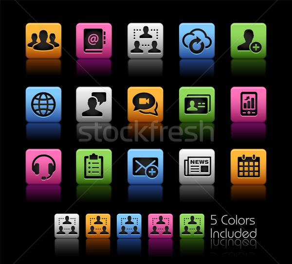 Business network technologii wektora pliku kolor ikona Zdjęcia stock © Palsur