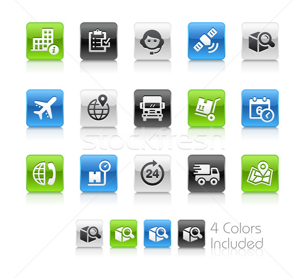 Shipping and Tracking Icons -- Clean Series Stock photo © Palsur