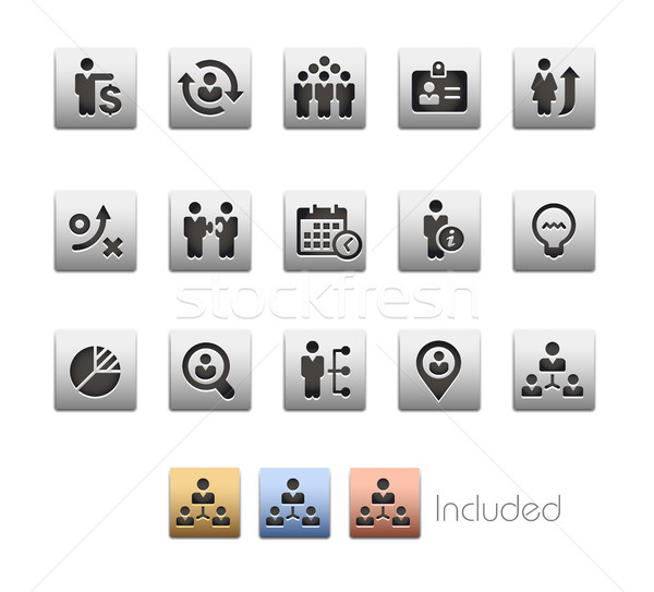 Business Efficiency Icons - Metalbox Series Stock photo © Palsur