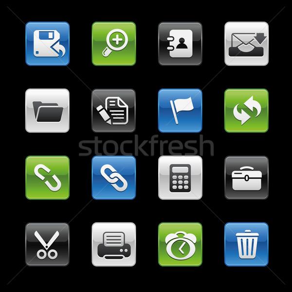 Interface Web Icons // GelBox Series Stock photo © Palsur