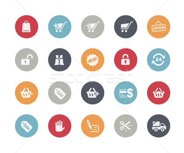 Shopping Icons // Classics Series Stock photo © Palsur