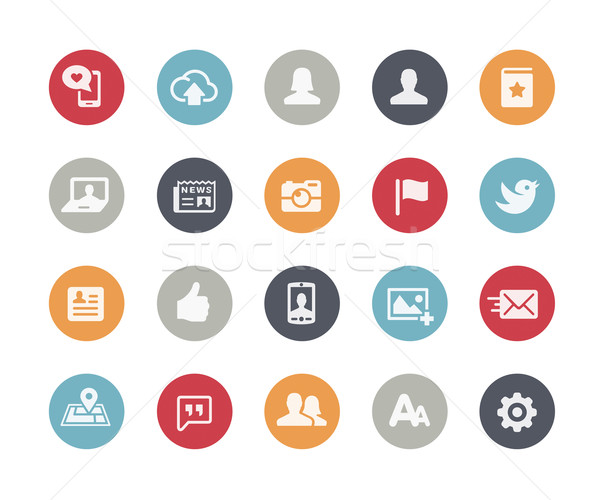 Social Web Icons // Classics Series Stock photo © Palsur