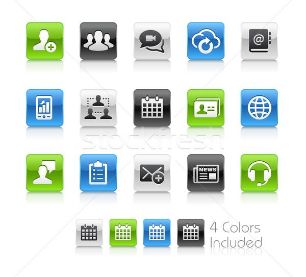 Business network technologii czyste wektora pliku kolor Zdjęcia stock © Palsur