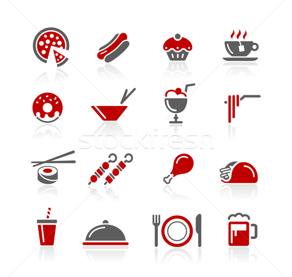 Food Icons / Set 2 of 2 // Redico Series Stock photo © Palsur