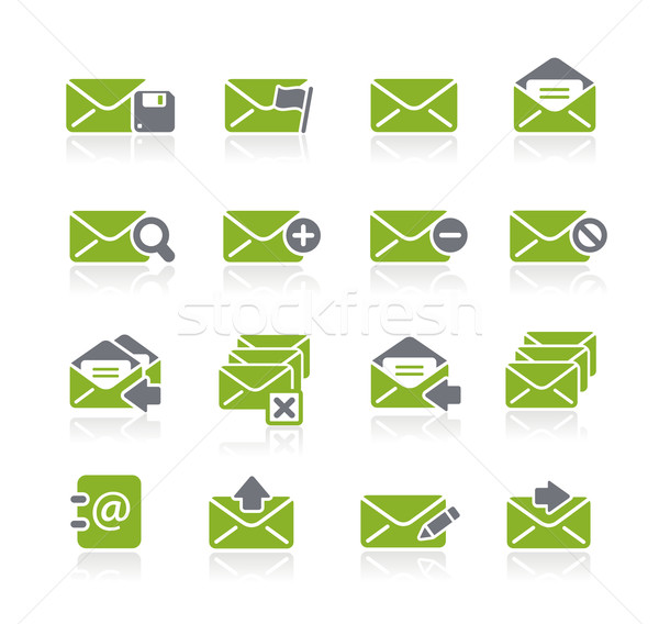 E-mail Icons -- Natura Series Stock photo © Palsur