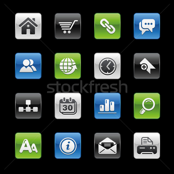 Website internet pictogrammen professionele iconen website presentatie Stockfoto © Palsur