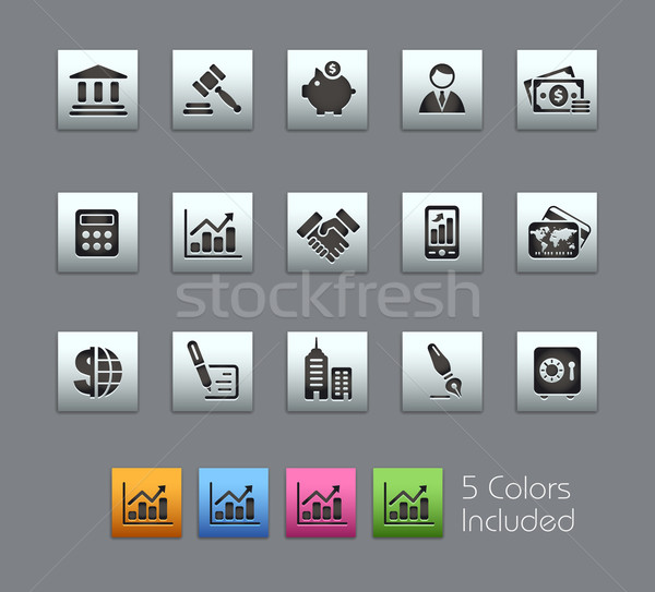 Business financieren eps bestand kleur verschillend Stockfoto © Palsur