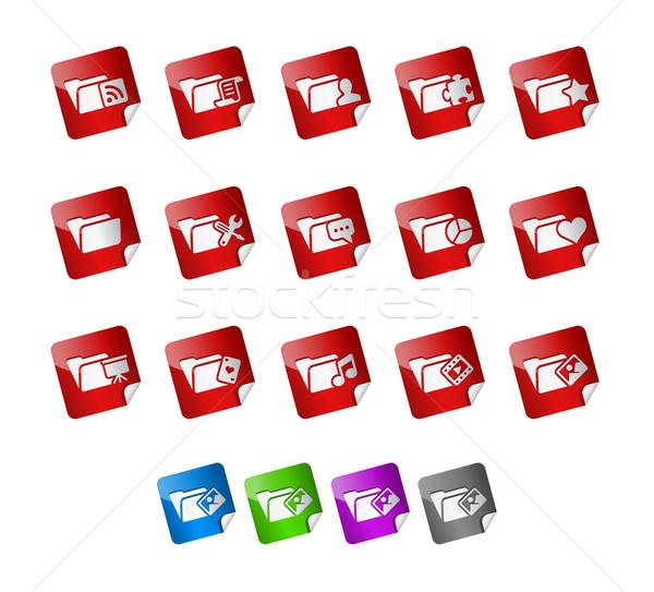 папке иконки вектора файла цвета Сток-фото © Palsur