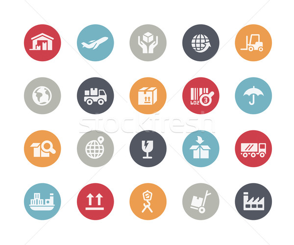 Industry and Logistics Icons // Classics Series Stock photo © Palsur
