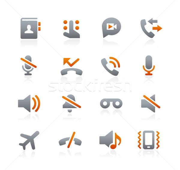 Web móviles iconos grafito vector digital Foto stock © Palsur