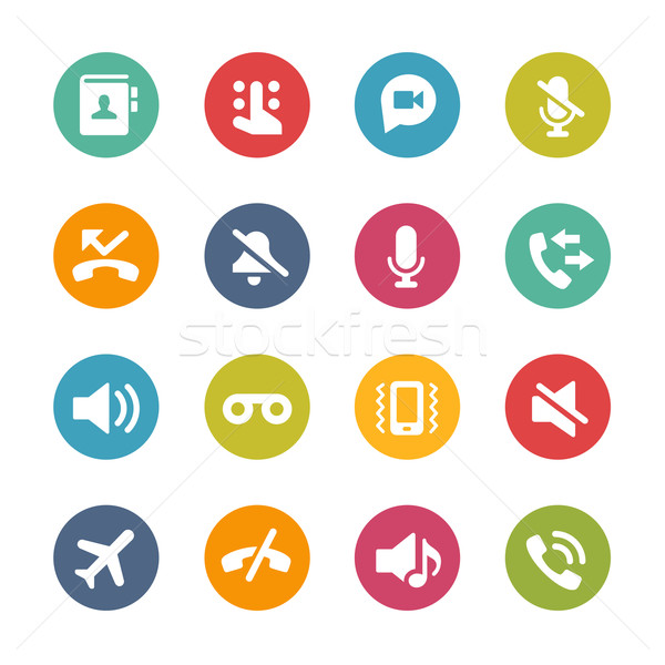 Web and Mobile Icons 1 -- Fresh Colors Series Stock photo © Palsur
