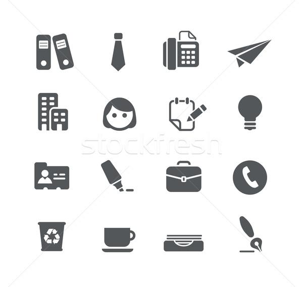 Escritório negócio ícones utilidade vetor digital Foto stock © Palsur