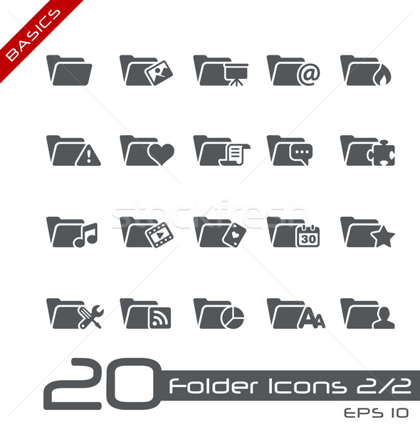Folder Icons - Set 2 of 2 // Basics Stock photo © Palsur