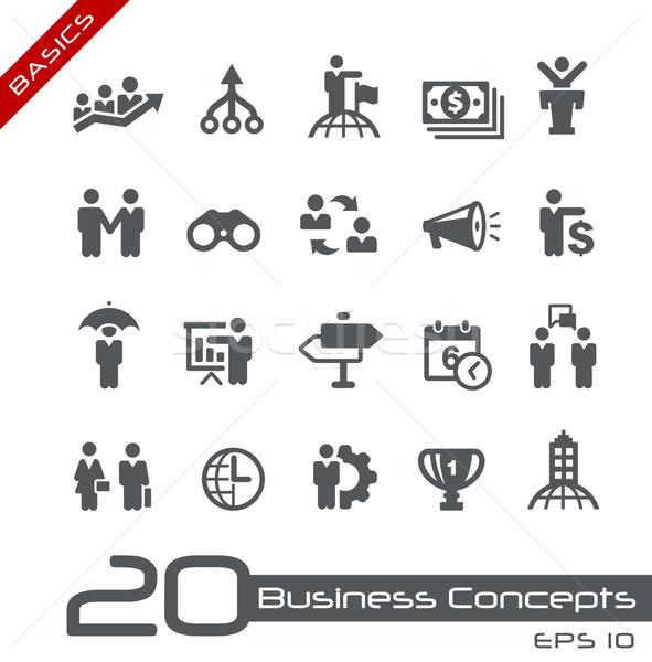Business Concepts Icon Set -- Basics Stock photo © Palsur