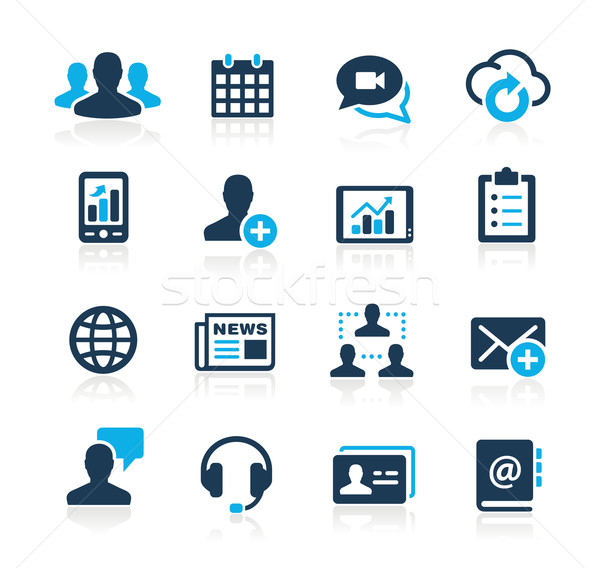 бизнеса технологий иконки лазурный вектора веб Сток-фото © Palsur