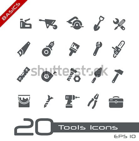 Tools Icons // Red Point Series Stock photo © Palsur