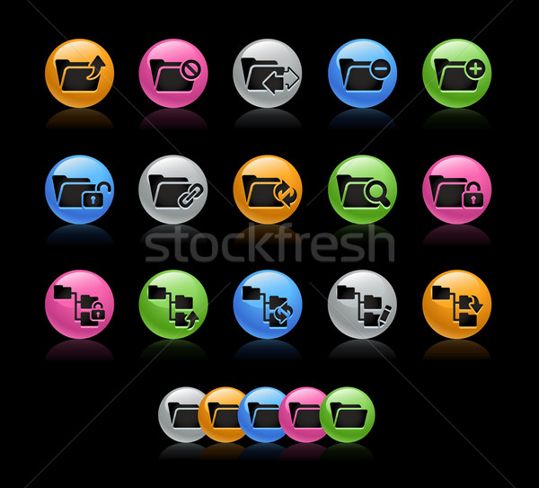 Folders 1 Icon set - Gelcolor Series Stock photo © Palsur