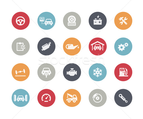 Car Service Icons // Classics Series Stock photo © Palsur