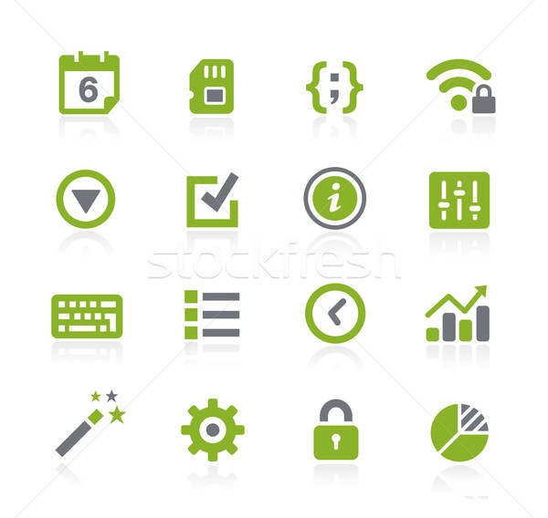 System Settings Icons // Natura Series Stock photo © Palsur
