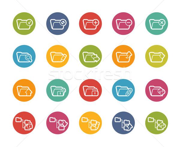Photo stock: Dossier · icônes · vecteur · web · mobiles · imprimer