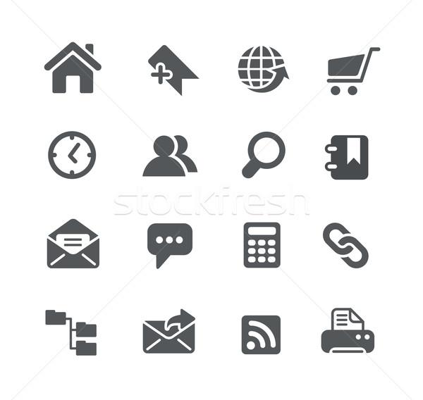 Stronie ikona użyteczność wektora cyfrowe wydruku Zdjęcia stock © Palsur
