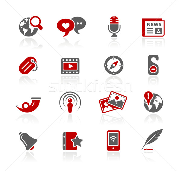 Social Media Icons // Redico Series Stock photo © Palsur
