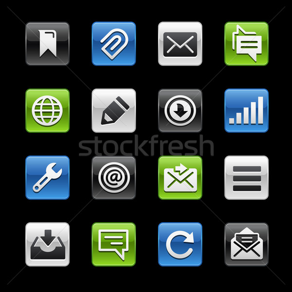 Mensajes botones vector iconos digital Foto stock © Palsur
