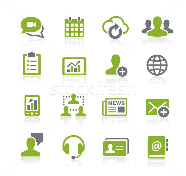 Бизнес-сеть иконки вектора веб мобильных печати Сток-фото © Palsur