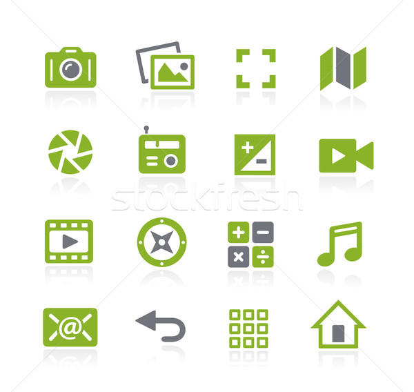 Media Interface Icons // Natura Series Stock photo © Palsur