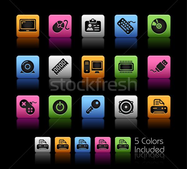 Foto stock: Computador · dispositivos · cor · caixa · eps · arquivo
