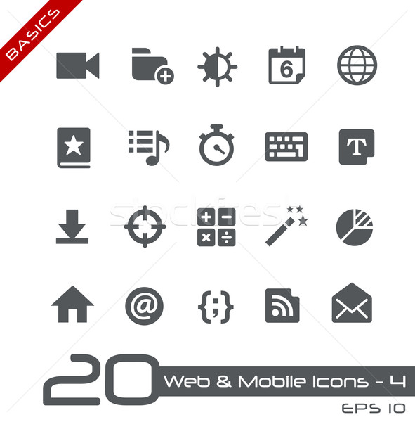 Web & Mobile Icons-4 // Basics Stock photo © Palsur