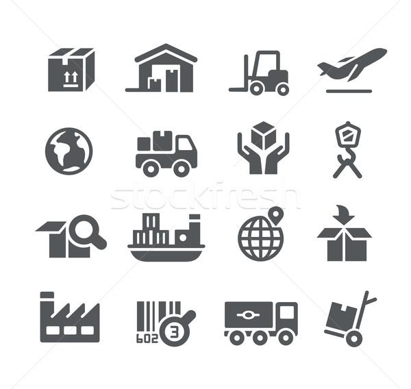 Stock photo: Industry and Logistics icons -- Utility Series