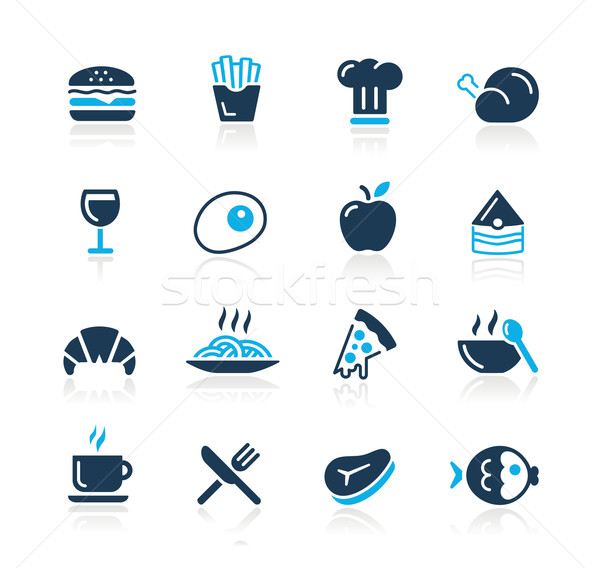Food Icons - 1 // Azure Series Stock photo © Palsur