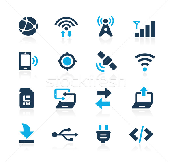 Connectivity Icons // Azure Series Stock photo © Palsur