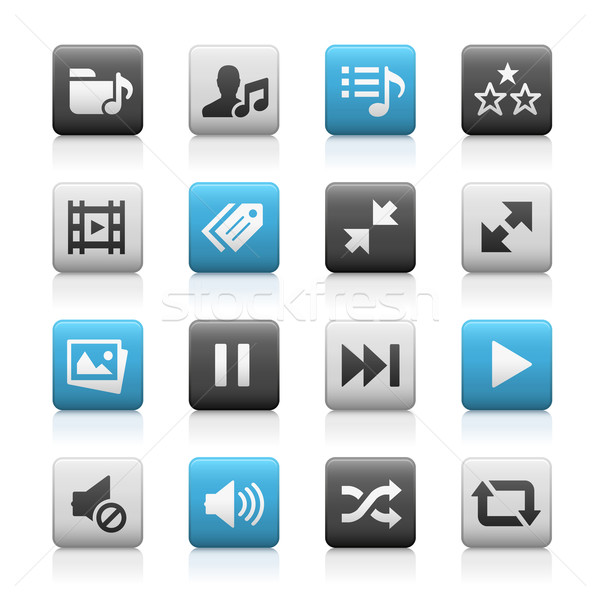 Web and Mobile Icons 7 // Matte Series Stock photo © Palsur