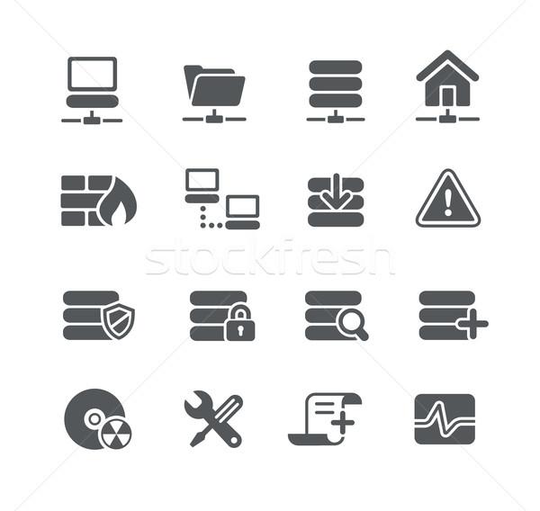 Rede servidor ícones utilidade vetor digital Foto stock © Palsur